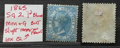 Britský Honduras 1865 - SG2 100£