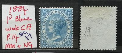 Britský Honduras / Belize 1884 - SG17 75£