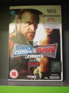 WWE Smackdown vs Raw 2009 (Wii) - kompletní, jako nová