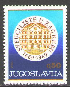 Jugoslávie 1969 Univerzita Záhřeb, 300. výročí Mi# 1359 2178