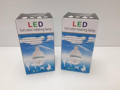 LED lampa rotační, diskotéková, super pro malé děti, velmi efektní