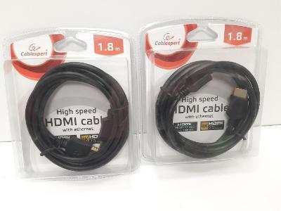 HDMI kabel 1,8m, 4K,  síťový s ethernetem navíc, nové