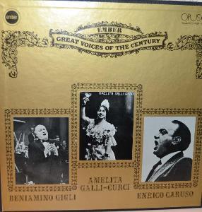 BOX 3 LP, PŘÍLOHA: GREAT VOICES - GIGLI, GALLI-CURCI, CARUSO ...