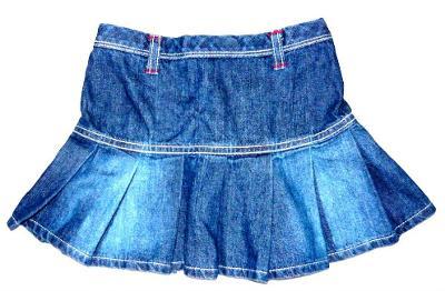 Modrá džínová sukýnka, vel. 2 - 3 roky