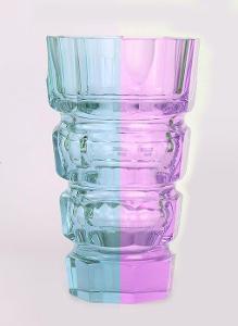 Váza barvoměnná ALEXANDRID ART-DECO JOSEF HOFMANN DESNÁ