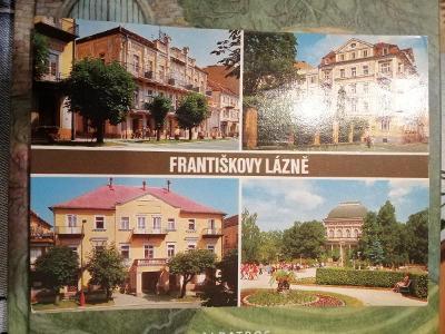 Pohlednice - Františkovy lázně, prošla poštou