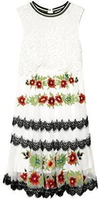 DESIGUAL vest_Scalet luxusní krajkové společenské long šaty/M