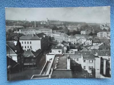 Kladno Slaný škola v Hájích panorama