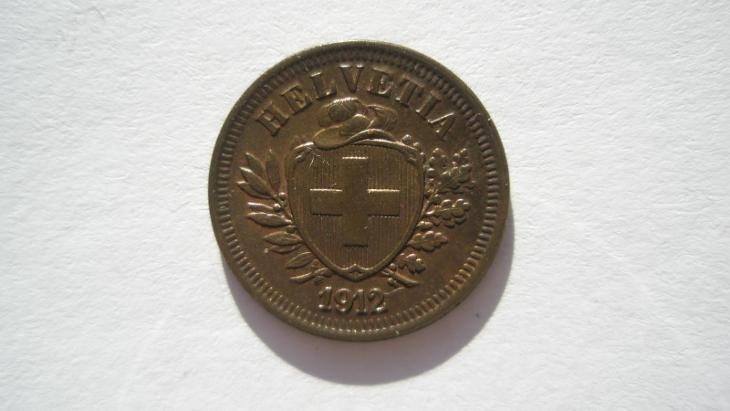 Švýcarsko 1 rap 1912 - Numismatika