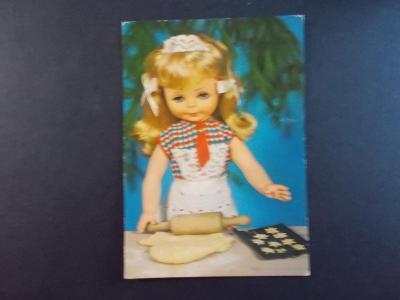 Pohlednice Svátek přání panenka panna loutka hračka