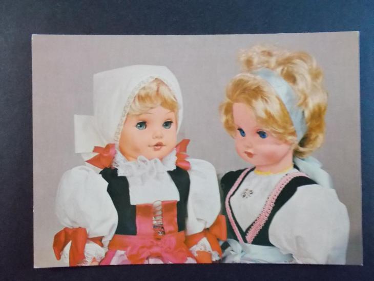 Pohlednice Svátek přání panenka panna loutka hračka - Pohlednice