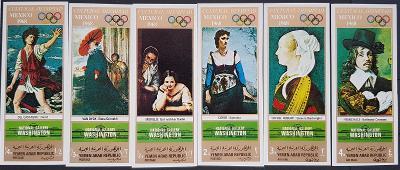 Jemen YAR Olympijské hry 1968, Mexico série bez perforace