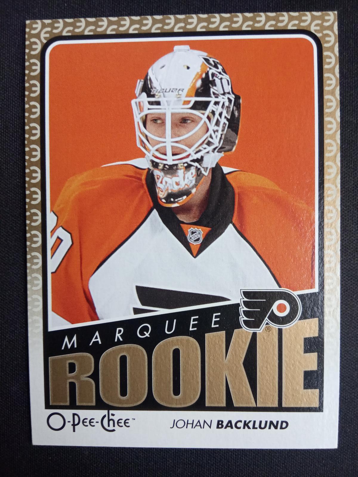 Johan Backlund Opch Rookie Philadelphia Flyers Aukro