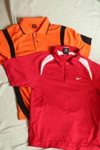Trička s límečkem Nike a Tiger Golf, vel 140-152