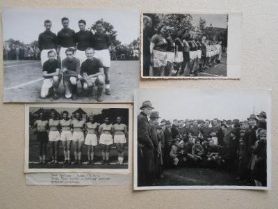 HÁZENÁ  PACHMAN 1945 SPARTA LETNÁ / SP + SLAVIA / 4 KS  r. cm až 18x13