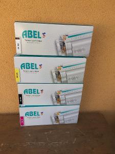 3 x toner ABEL pro HP color jet Pro - žlutá ,černá , červená - Nové