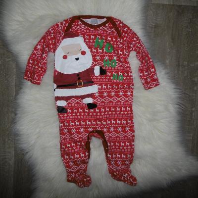 vánoce mikuláš santa ježíšek krásný příjemný overal pyžamko 3-6 měs