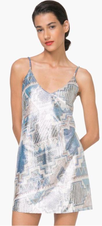 DESIGUAL VEST_Dorotea luxusní tunika-šaty/ krásné!! 44 L
