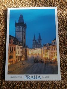 Pohlednice - Praha: Staroměstské náměstí, neprošla poštou