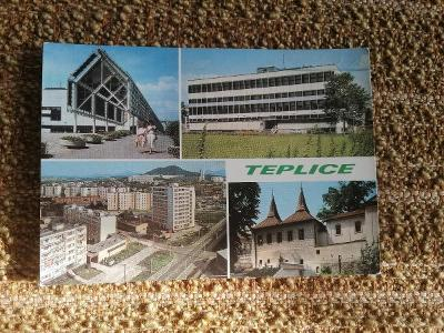 Pohlednice - Teplice, prošla poštou