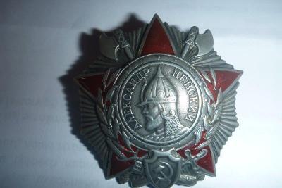 Vysoký ruský řád odznak Alexandr Něvský  značeno