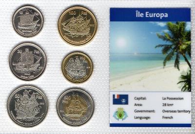 ILE EUROPA: kompletní sada 6 mincí 2012 UNC v blistru