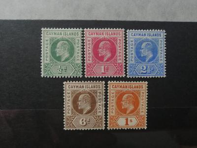 Kajmanské ostrovy 1902 - komplet definitiva Eduard VII. 110£
