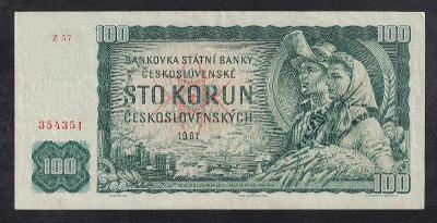 VZÁCNÁ 100 KORUNA 1961 SÉRIE Z - SUPER STAV!