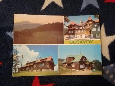 Pohlednice - Beskydy, prošla poštou