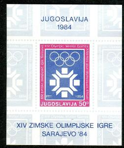 Jugoslávie 1983 ZOH Sarajevo Mi# Block 22 2185