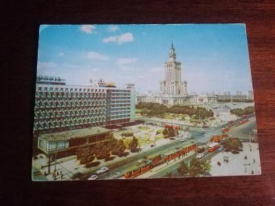 Pohlednice - Varšava, prošla poštou