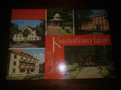 Pohlednice - Konstantinovy Lázně, prošla poštou