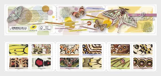 Francie 2020 Známky známkový sešitek Mi 7508-7519 ** Motýli křídla