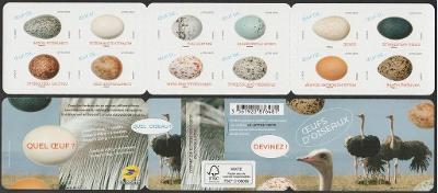 Francie 2020 Známky známkový sešitek Mi 7566-7577 ** ptactvo vejce