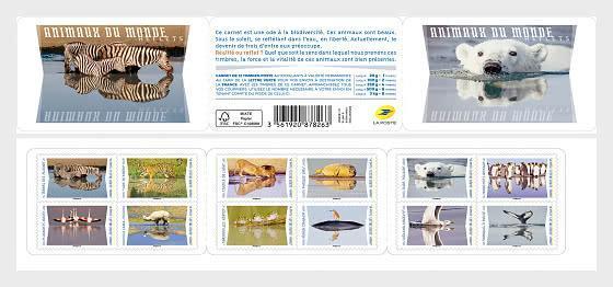 Francie 2020 Známky známkový sešitek Mi 7529-7540 ** ptactvo zvíře