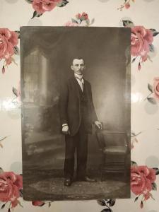 Fotopohlednice, R-U, muž, 1.světová, 1916