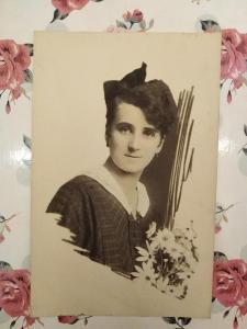 Fotopohlednice, R-U,1.světová, žena, 1917