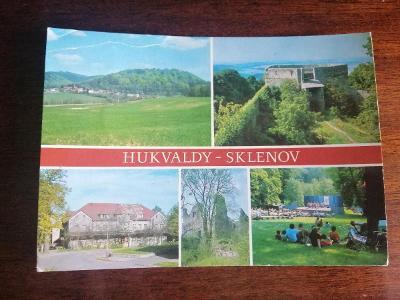 Pohlednice - Hukvaldy-Sklenov, prošla poštou