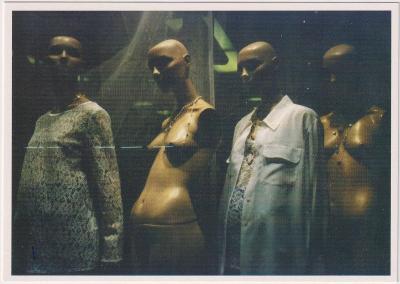 REKLAMNÍ POHLEDNICE  UMĚNÍ HANA JAKRLOVÁ LONDÝN JINÝ POHLED 1998