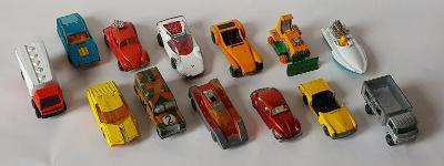 Modely autíček Matchbox v sadě 13 kusů