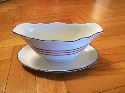 Starožitný porcelánový omáčník