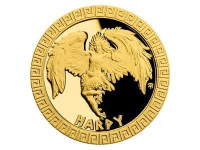 Zlatá mince Bájní tvorové - Harpyje proof