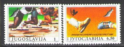 Jugoslávie 1990 ME v atletice Mi# 2434-35 2190