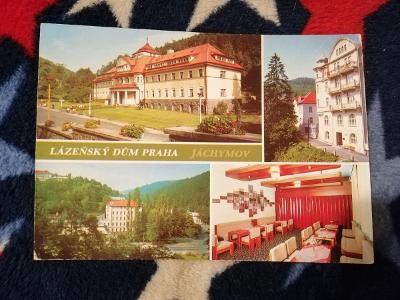 Pohlednice - Lázeňský dům Praha, Jáchymov, prošla poštou