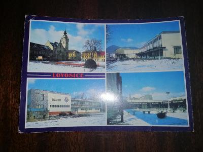 Pohlednice - Lovosice, prošla poštou