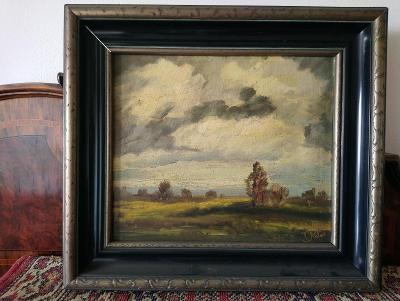 Viktor Rolín, Před bouří, 34x29 cm