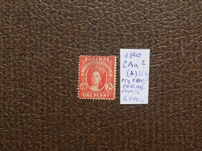 BAHAMY BRITÁNIE KOLONIE 1860 Mi 2 Aa ? (*) SG 4 KAT. cca 1800 EUR