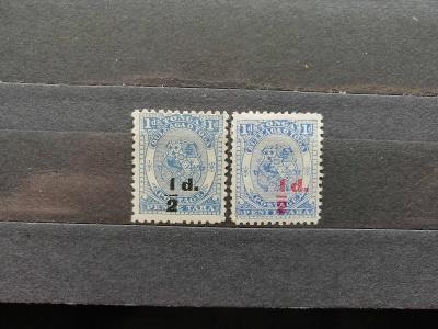 Tonga 1893 - 2x * hledané přetisky 65£