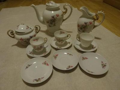Starožitný porcelánový servis čajový