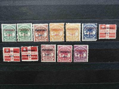Britská Samoa 1899 - * komplet prozatímní vlády + varianty 40£